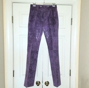 WILSON'S LEATHER Purple Leather Pants sz 4